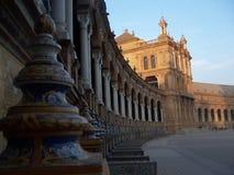Il quadrato della Spagna in Siviglia Fotografia Stock Libera da Diritti