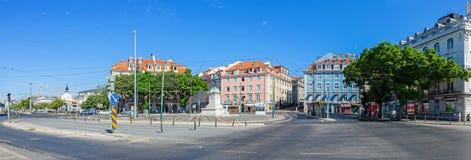 Il quadrato di Duque da Terceira, in Cais fa Sodre Fotografie Stock Libere da Diritti