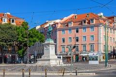 Il quadrato di Duque da Terceira, Cais fa Sodre, Lisbona Fotografie Stock Libere da Diritti
