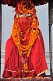 Statua di Hanuman al quadrato di Kathmandu Durbar Fotografia Stock