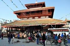 Tempio al quadrato di Kathmandu Durbar Fotografia Stock
