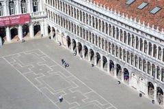Il quadrato di St Mark da sopra in Venezia Fotografia Stock Libera da Diritti