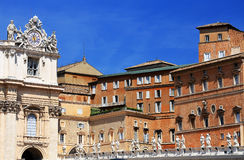 Il quadrato di St Peter a Città del Vaticano Fotografie Stock Libere da Diritti