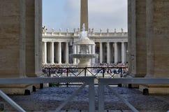 Il quadrato di St Peter, Città del Vaticano Fotografie Stock