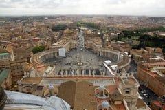 Il quadrato di St Peter, Roma Fotografia Stock Libera da Diritti