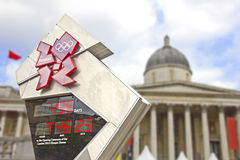 Il quadrato di Trafalgar ha preparato per i Giochi Olimpici Fotografia Stock