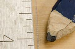 La matita del carpentiere Fotografia Stock Libera da Diritti