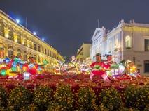 Il quadrato famoso di Senado di Macao fotografia stock libera da diritti