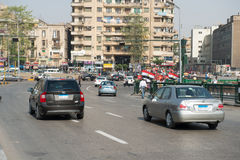 Il quadrato famoso di Tahrir a Il Cairo Fotografia Stock