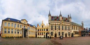 Panorama di Burg, Bruges, Beligum Fotografie Stock Libere da Diritti