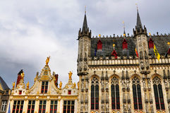 Quadrato di Burg, Bruges, Belgio Fotografia Stock