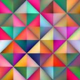 Il quadrato multicolore senza cuciture del triangolo di pendenza di vettore piastrella il modello geometrico Immagini Stock