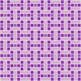 Il quadrato porpora piastrella il modello senza cuciture Fotografie Stock Libere da Diritti