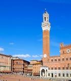 Il quadrato principale di Siena Immagine Stock