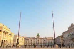 Il quadrato principale di Trieste Fotografia Stock