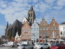 Il quadrato principale in Oudenaarde, nel Belgio centrale fotografia stock