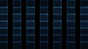il quadrato virtuale di numero 4k, tecnologia di scienza allinea il fondo di esame di griglia della matrice video d archivio