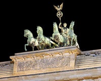 Il Quadriga in cima al tor di Brandenburger Immagine Stock Libera da Diritti