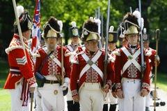 Il quarantunesimo reggimento del piede Immagini Stock Libere da Diritti