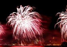Il quarto dei fuochi d'artificio di luglio in NYC Immagini Stock