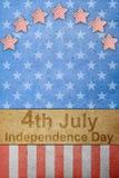 Il quarto della festa dell'indipendenza di luglio Fotografia Stock
