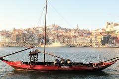 Il quarto di Ribeira a Oporto, Portogallo e rive Duoro Immagine Stock