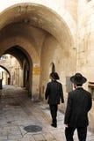 Il quarto ebreo nella vecchia città di Gerusalemme Fotografia Stock Libera da Diritti