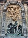 Il quarto gotico è il monumento alle protezioni di Barcellona Fotografie Stock Libere da Diritti