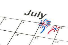 il quarto luglio Fotografia Stock Libera da Diritti