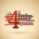 il quarto luglio Fotografie Stock Libere da Diritti