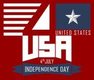 il quarto luglio, festa dell'indipendenza felice Stati Uniti Fotografia Stock