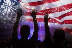 il quarto luglio - festa dell'indipendenza immagini stock