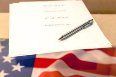 il quarto luglio, la festa dell'indipendenza degli Stati Uniti, posto da annunciare Fotografia Stock