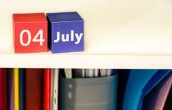 il quarto luglio, la festa dell'indipendenza degli Stati Uniti, posto da annunciare, feste americane Fotografia Stock Libera da Diritti
