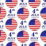 il quarto luglio Modello senza cuciture di festa dell'indipendenza Gli Stati Uniti di Fotografie Stock Libere da Diritti