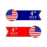 il quarto luglio Priorità bassa del grunge di indipendenza Day Fotografia Stock