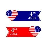 il quarto luglio Priorità bassa del grunge di indipendenza Day Simboli degli Stati Uniti d'America Fotografie Stock