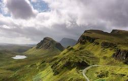 Il Quiraing, isola di Skye Scotland Fotografia Stock