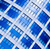 Il raccolto astratto blu dell'ufficio moderno Fotografia Stock Libera da Diritti