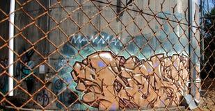 Il raccolto dei graffiti fotografia stock libera da diritti
