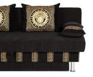 Il raccolto del sofà con il cuscino decorativo Fotografia Stock