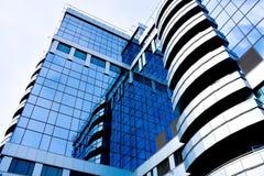 Il raccolto diagonale astratto blu dell'ufficio moderno Immagini Stock
