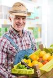 Il raccolto fresco dell'agricoltore Fotografia Stock Libera da Diritti
