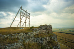 Il radar sulla montagna Fotografia Stock