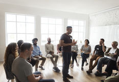 Il raduno di seminario della rete aumenta il concetto fotografia stock