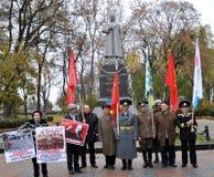 Il raduno ha lasciato i villaggi dell'Ucraina immagini stock