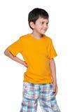 Il ragazzino guarda da parte Fotografia Stock Libera da Diritti