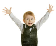Il ragazzino in un vestito Fotografia Stock