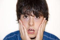 Il ragazzo è sorpreso Fotografia Stock Libera da Diritti