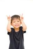 Il ragazzo asiatico finge a coniglio Immagine Stock Libera da Diritti